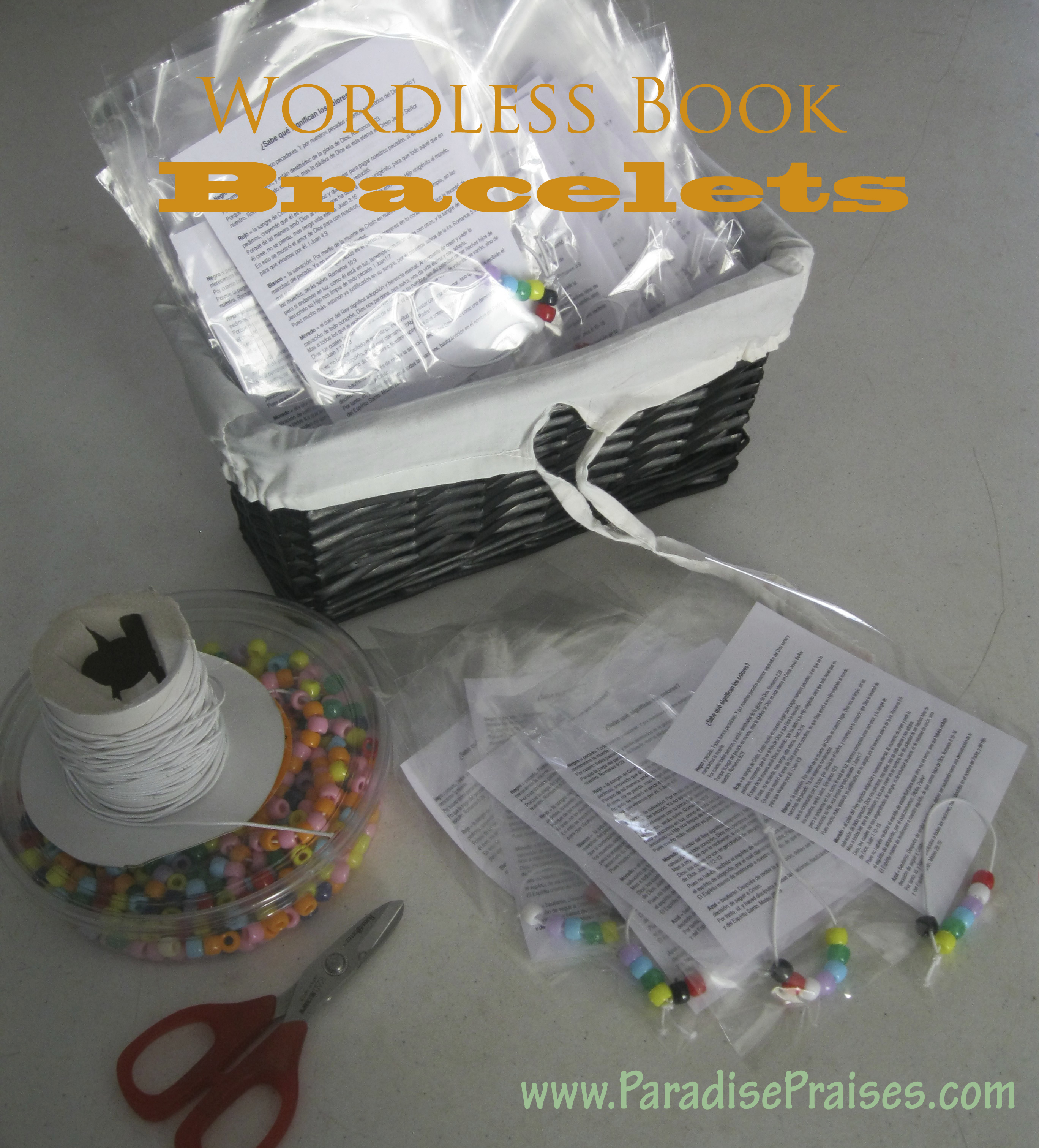 Wordless book bracelets how to on ParadisePraises.com