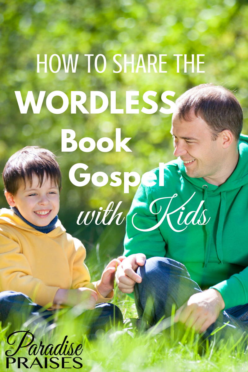 picture about Wordless Book Printable known as Sharing the Wordless Guide Gospel [PRINTABLE] Paradise Praises
