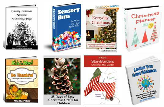 25 Holiday books for $25 www.paradisepraises.com