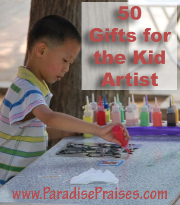 50 Gifts for the Kid Artist