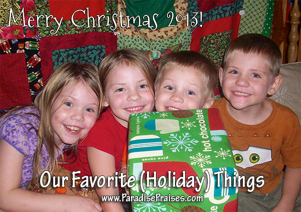 Our Favorite Holiday Things www.ParadisePraises.com