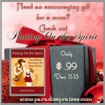 Putting on the Spirit devos for busy moms www.ParadisePraises.com