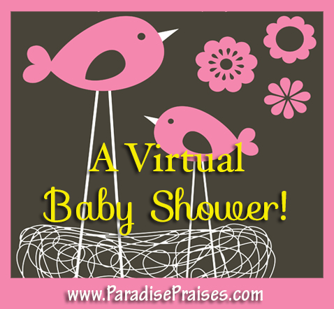 a virtual baby shower www.ParadisePraises.com