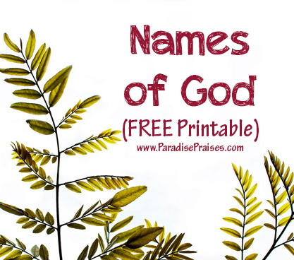 Names of God (Free Printable)