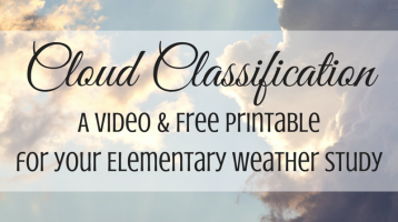 Cloud Classification (with video & free printable)