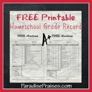 Free homeschool report card printable paradise praises free printable homeschool grade report pronofoot35fo Image collections