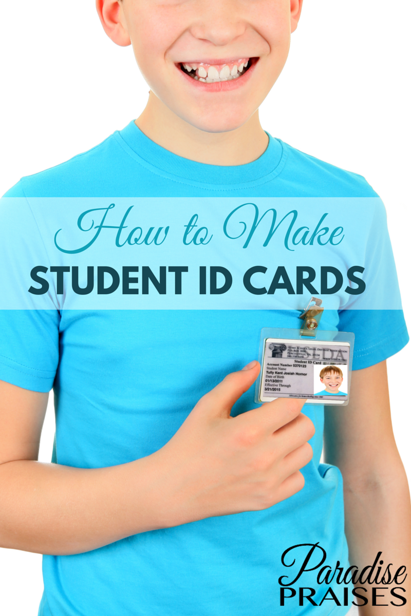 how to make student id cards free printable paradise praises - How To Make Id Card