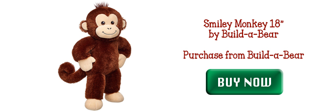 Smiley Monkey from Build a Bear