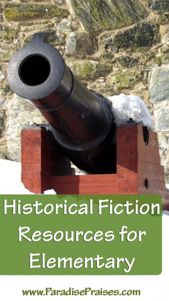books and resources for elementary historical fiction genre www.ParadisePraises.com