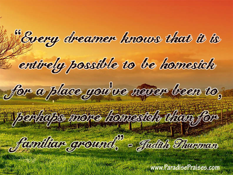 Judith Thurman Dreamer Quote  www.ParadisePraises.com