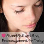 Stand still and see, Christian Encouragement for today. God love you and never leaves you. Christian encouragement. ParadisePraises.com