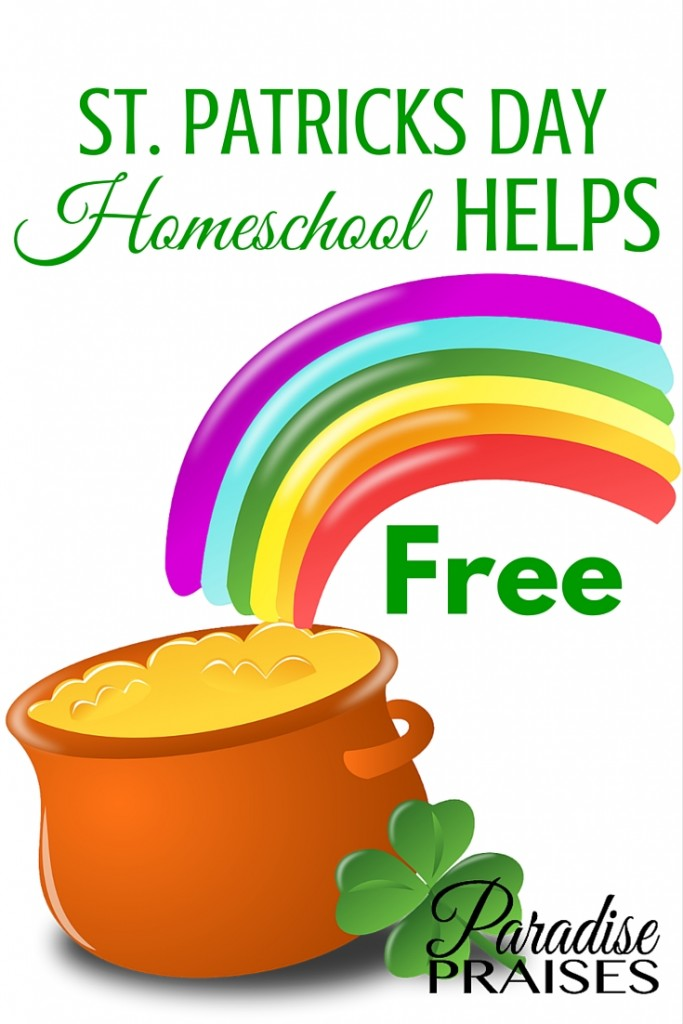 Free homeschool St Patricks Day resources including printable, curriculum, craft, and art projects. ParadisePraises.com