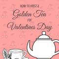 Happy Valentines Day golden tea