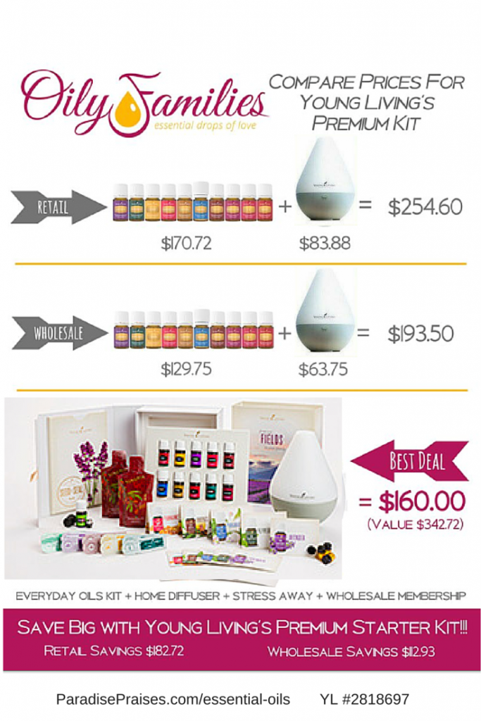 Essential Oil Premium Starter Kit for $160 via ParadisePraises.com