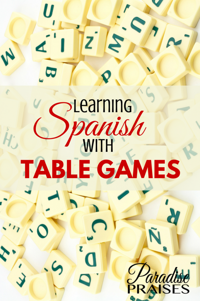 Learning Spanish with Table Games via ParadisePraises.com