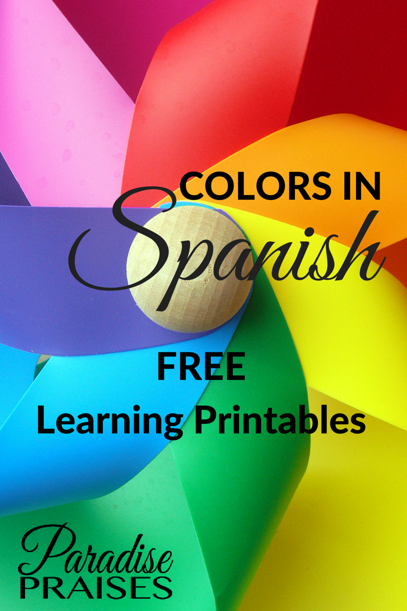 List of Colors in Spanish FREE