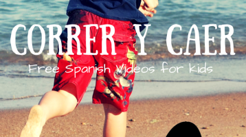run and fall: Learn Spanish Vocab with this Video for kids via ParadisePraises.com