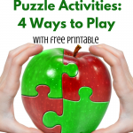 Apple Puzzle Activities: 4 ways to play (with free printable) via ParadisePraises.com