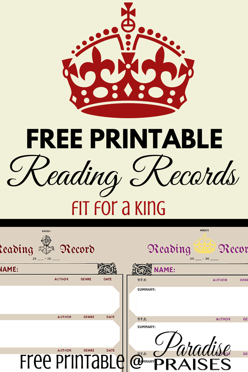 graphic regarding Printable Records known as Free of charge Looking at History Printable Chart