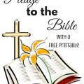 Pledge to the Bible with a free printable.