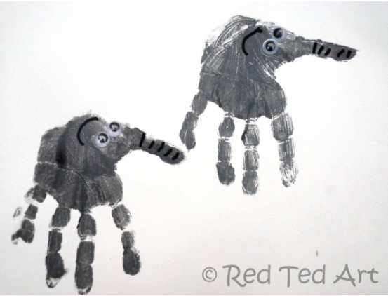 red ted elephant art