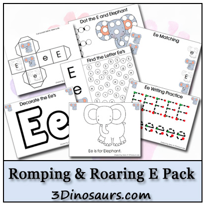 e is for elephant printables
