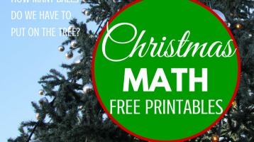 Christmas Math (Free Printables)