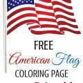 Free American Flag Coloring Page Printable from ParadisePraises.com