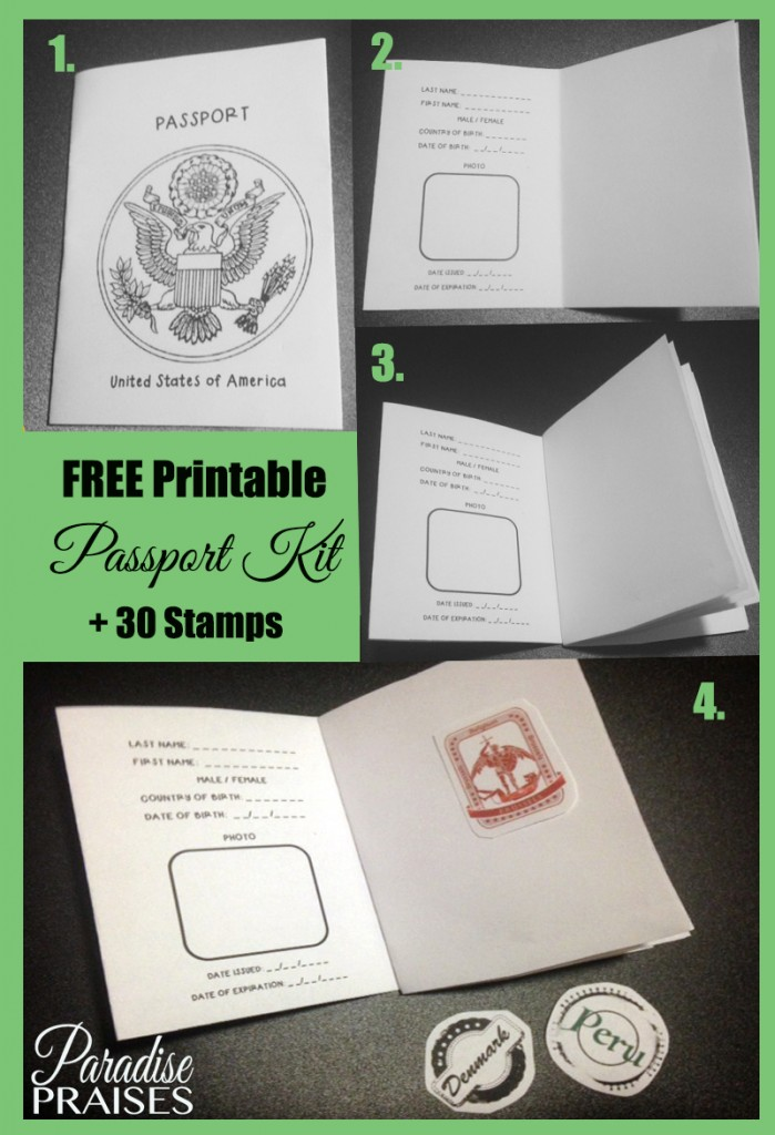 Free Printable Passport Kit via ParadisePraises.com