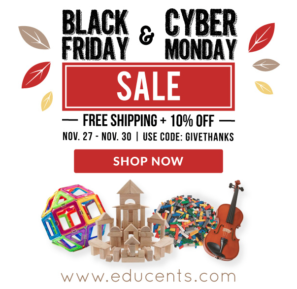 Educents, black friday and cyber monday Sale