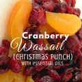 Cranberry Wassail, Christmas Punch, recipe using essential oils via paradisepraises.com