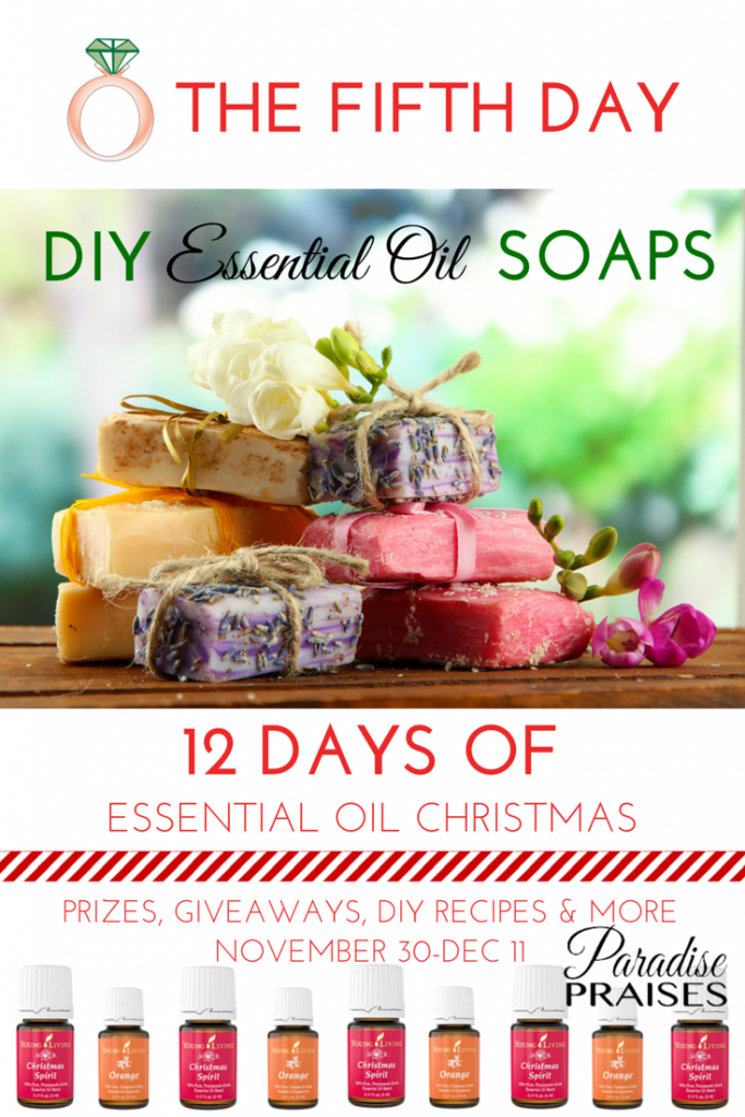 DIY Essential Oil Soaps via ParadisePraises.com