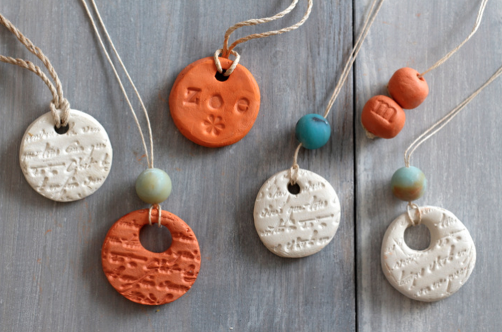 clay diffuser necklaces