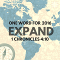 One Word: Expand - come read the significance for this expat missionary family at www.ParadisePraises.com