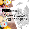 Free printable Adult Easter Coloring Page via ParadisePraises.com