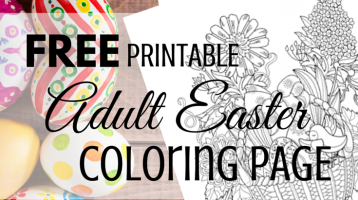 Printable Adult Coloring Page – Easter Basket