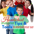 Homeschool Organization Tips & Tools to Make Your life better! via ParadisePraises.com
