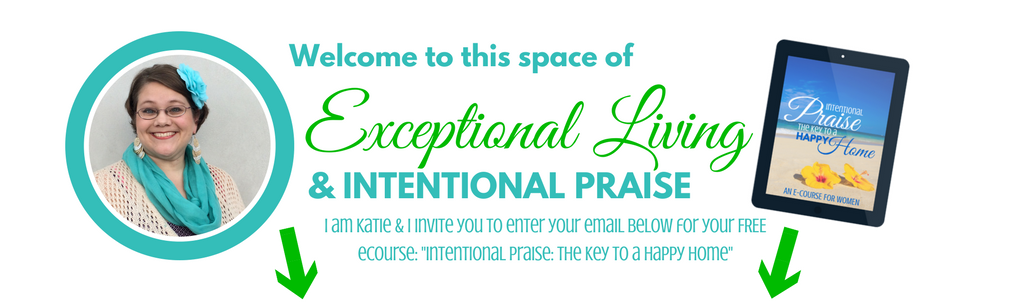 Katie Hornor welcomes you to ParadisePraises.com an space of exceptional living and intentional praise