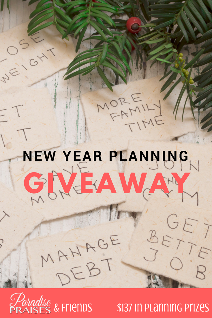 New Year Planning Giveaway at ParadisePraises.com