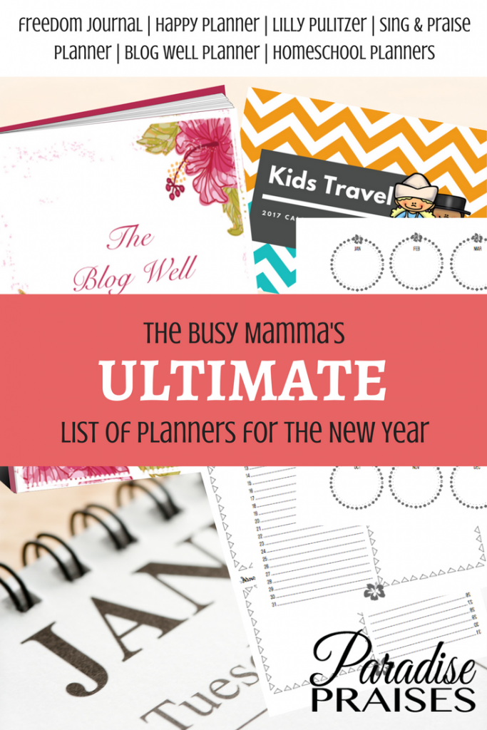 planners for new year, paradisepraises.com