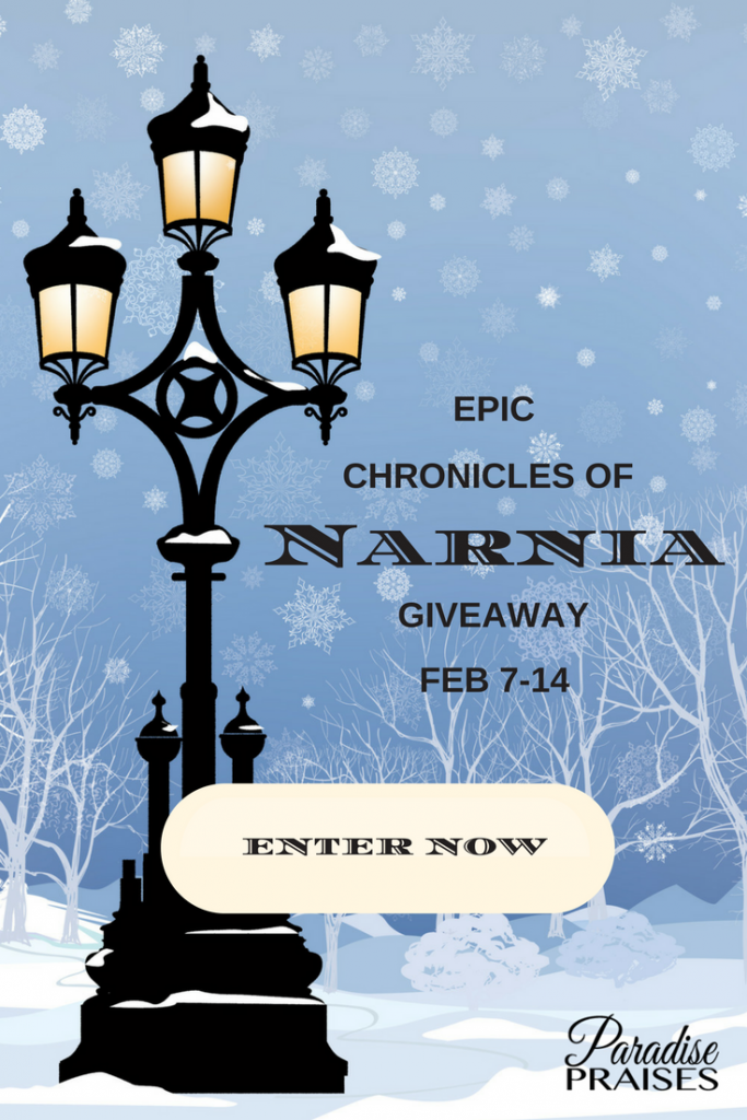 See the Lion, chronicles of narnia giveaway: paradisepraises.com