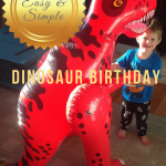 easy and simple dinosaur birthday party, paradisepraises.com
