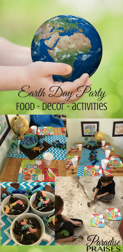 Earth Day party for kids, homeschool, paradisepraises.com