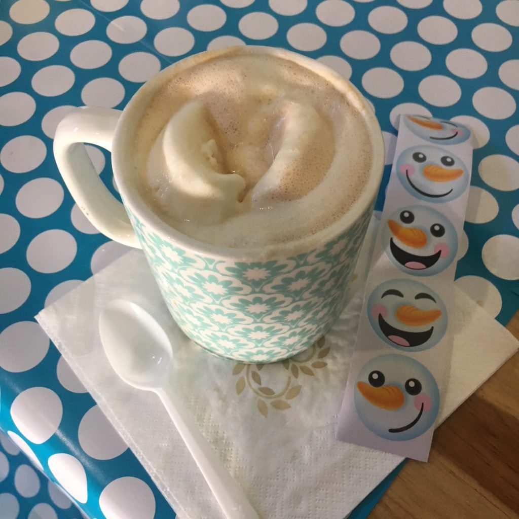 Frozen Olaf Birthday Party coffee affogato, paradisepraises.com