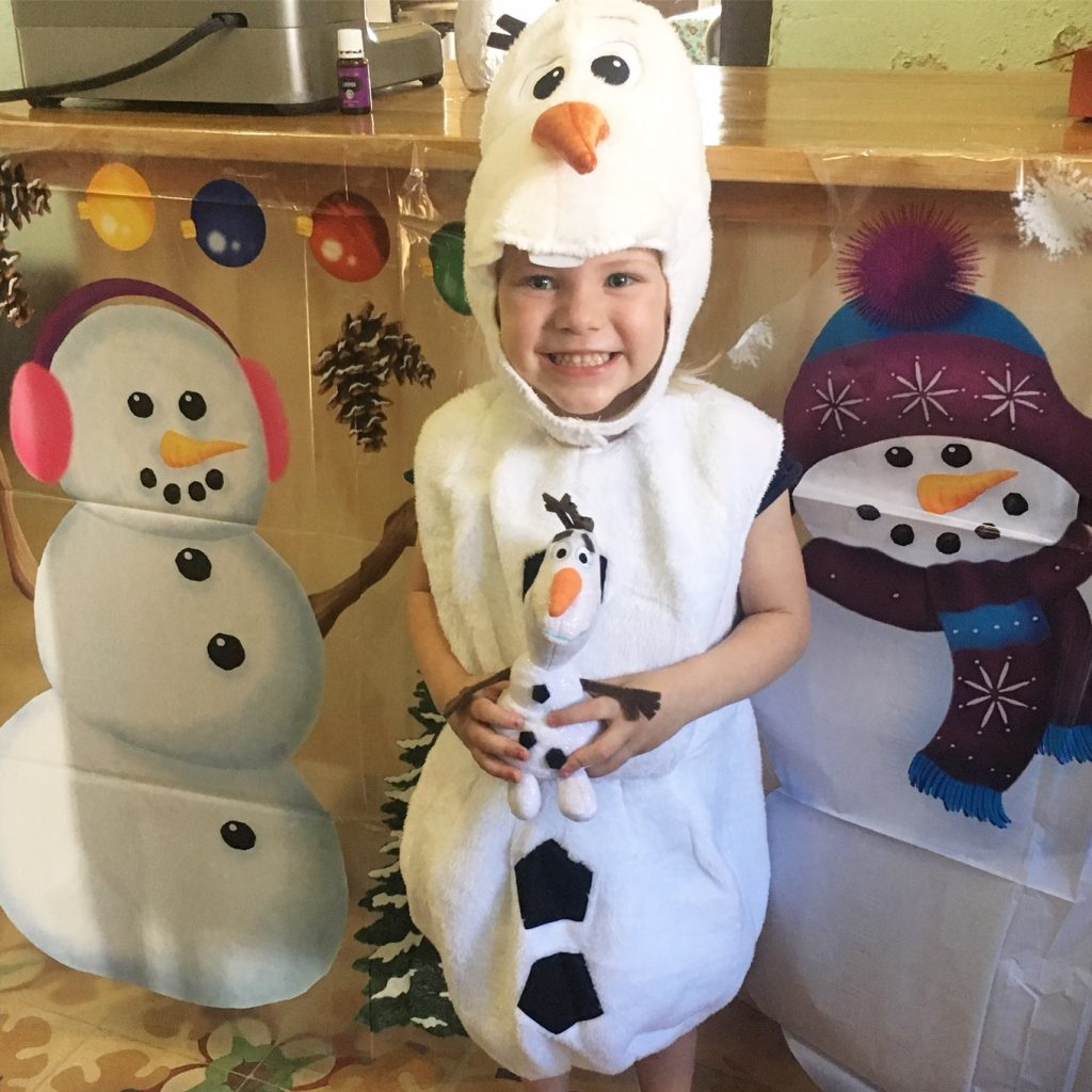 Frozen Olaf Birthday Party costume, paradisepraises.com